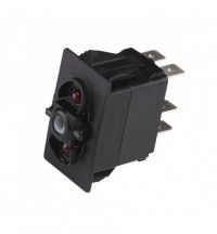 CZone Rocker switch, mom ON/OFF/mom ON, red LED