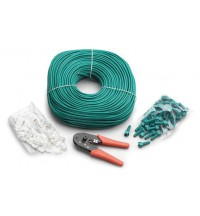 Mastervolt DIY kit: RJ45 crimping tool, 50 pcs. RJ45 connectors, 50 pcs. protection boots, 100 m CAT5E UTP cable