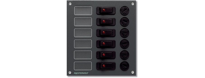 Combined fuse switch panel
